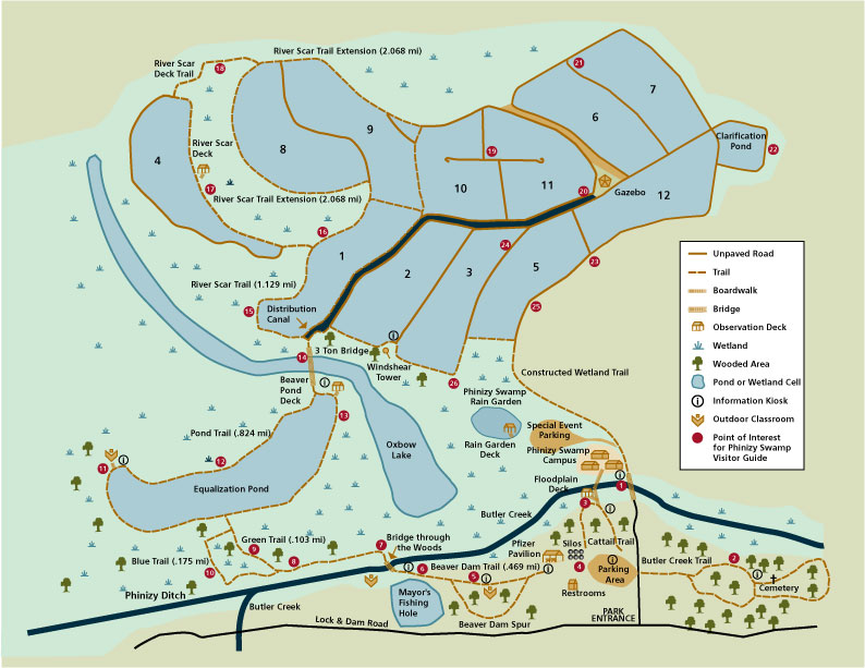 Phinizy Swamp Nature Park Map